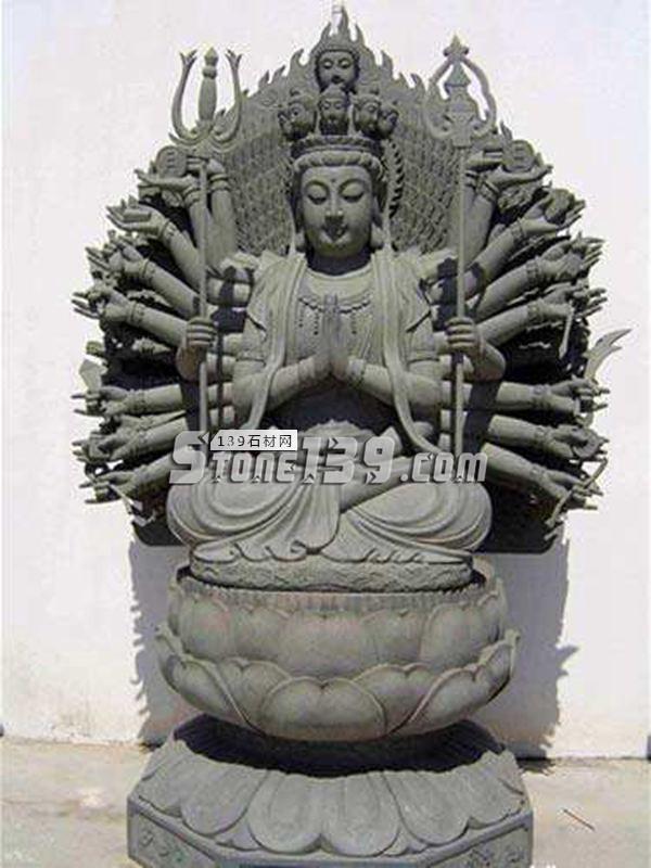 惠安石材雕刻 千手观音座-- 惠安海盛石刻