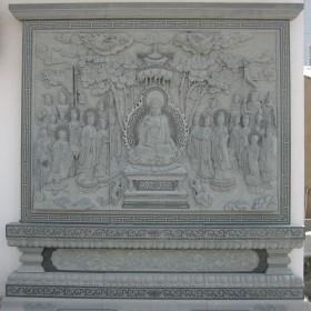 惠安石材雕刻 观音佛像浮雕