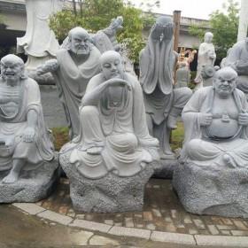 惠安石雕 十八罗汉雕刻产品