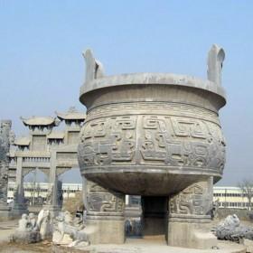 惠安石雕 石鼎 寺庙香炉