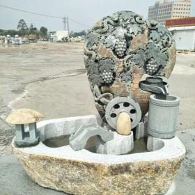 庭院景观摆设石雕 流水鱼缸