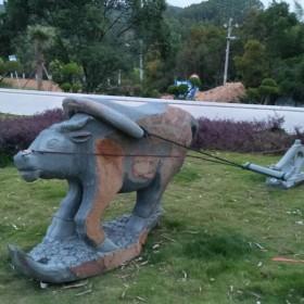 动物雕刻 园林摆设石雕 牛