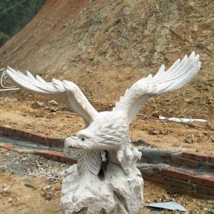 腾翔石趣石雕庭院景观摆件石鹰