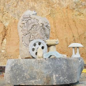 石雕鱼庭院景观摆件年年有余流水鱼缸