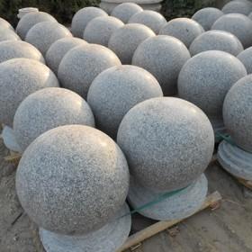 泌阳红花岗岩圆球 石球