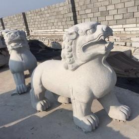 河南石材雕刻 石狮子供应