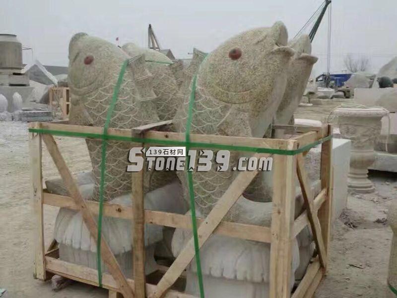 湖北花岗岩动物雕刻 喷水鱼-- 湖北康辉石业有限公司
