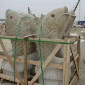 湖北花岗岩动物雕刻 喷水鱼