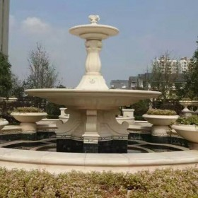 湖北花岗岩园林喷泉 景观喷水池