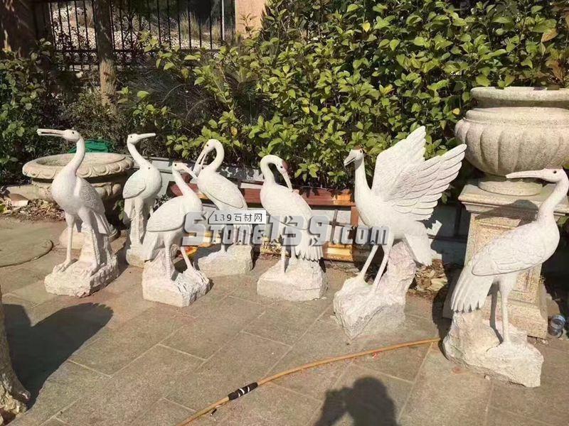 湖北石材动物雕刻 丹顶鹤-- 湖北康辉石业有限公司