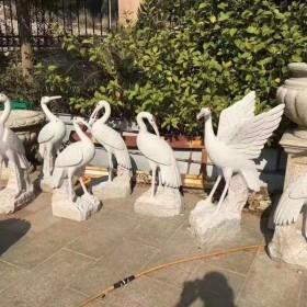 湖北石材动物雕刻 丹顶鹤