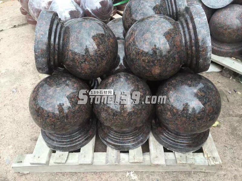 英国棕圆球成品 水头石球-- 恒毅辉杰石材