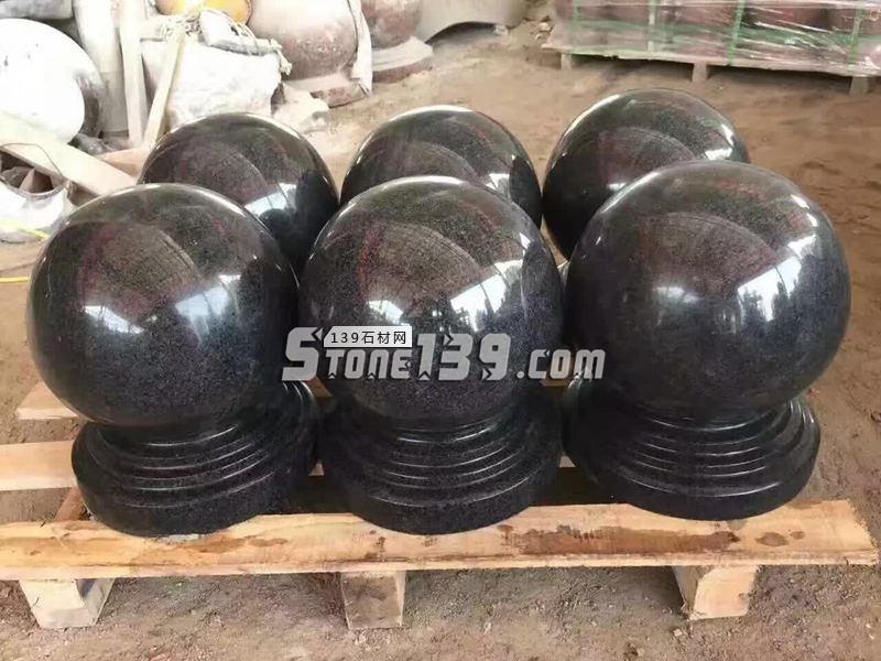 黑色花岗岩圆球 石球批发-- 恒毅辉杰石材