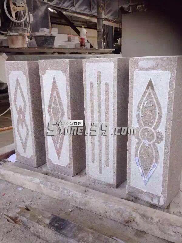 石井花岗岩方形柱雕刻加工