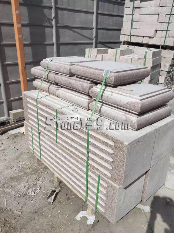 花岗岩石柱配套产品打包-- 恒毅辉杰石材