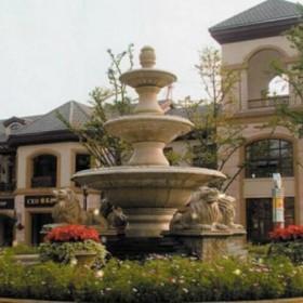 园林喷泉 大型花岗岩喷水池