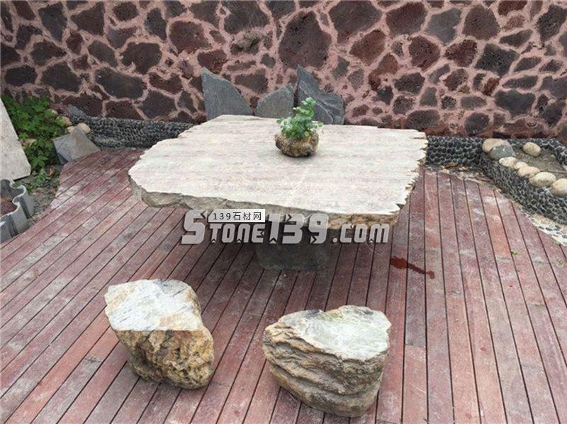 园林桌椅 配套石桌石凳-- 恒毅辉杰石材