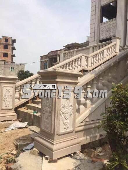 浮雕装饰柱面 石材雕刻-- 恒毅辉杰石材