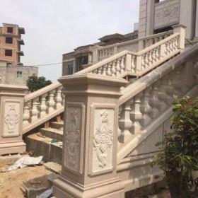 浮雕装饰柱面 石材雕刻