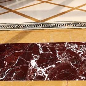紫罗红大理石地板应用案例
