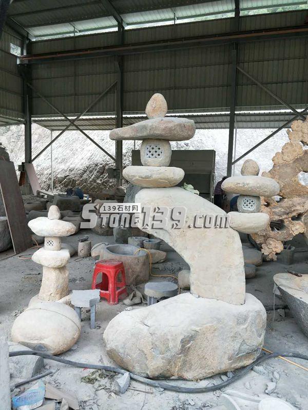 园林庭院石灯笼-- 腾翔石趣石材加工厂