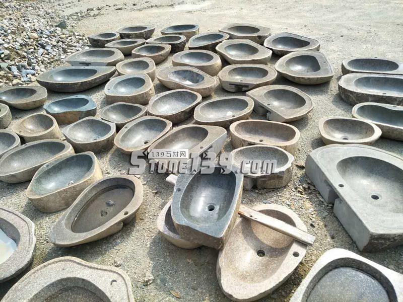 石材洗手盆成品批发供应-- 腾翔石趣石材加工厂