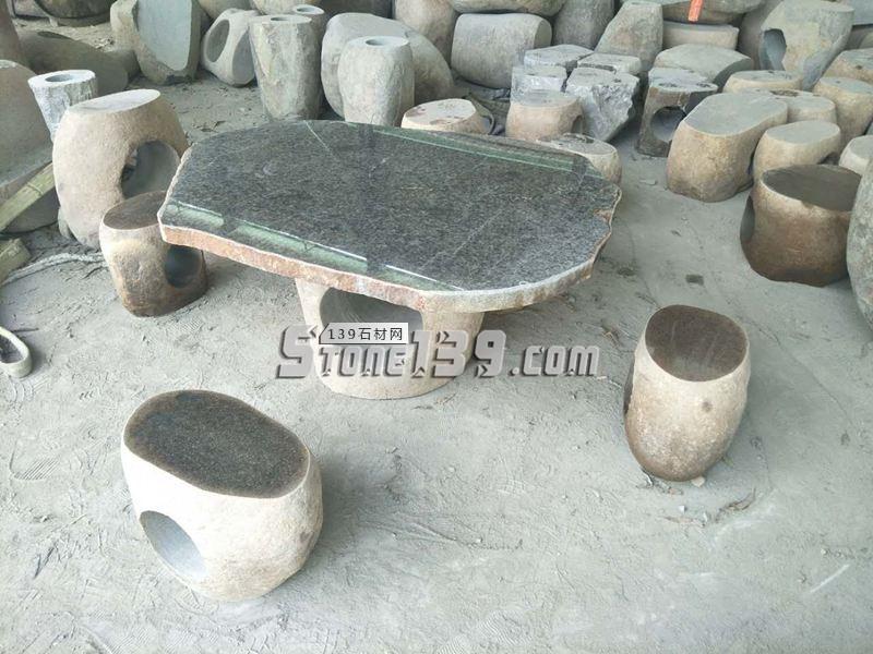 园林石桌石凳成品配套供应-- 腾翔石趣石材加工厂