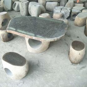园林石桌石凳成品配套供应
