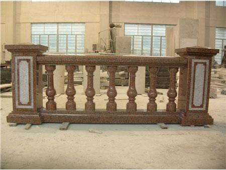 红色花岗岩栏杆 扶手 栏杆压板-- 福建强盛石材(江西)有限公司