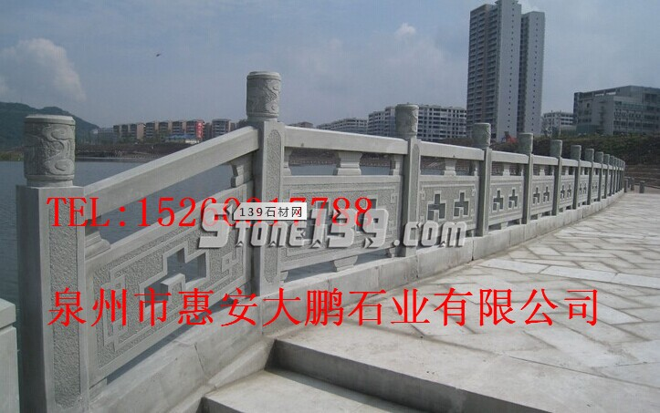 崇武石雕栏杆厂家,福建河道防护栏加工定制-- 福建大鹏石材雕刻有限公司