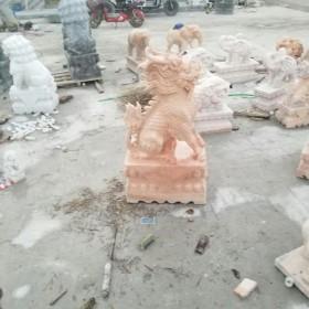 石雕麒麟 晚霞红麒麟现货促销 汉白玉麒麟石雕