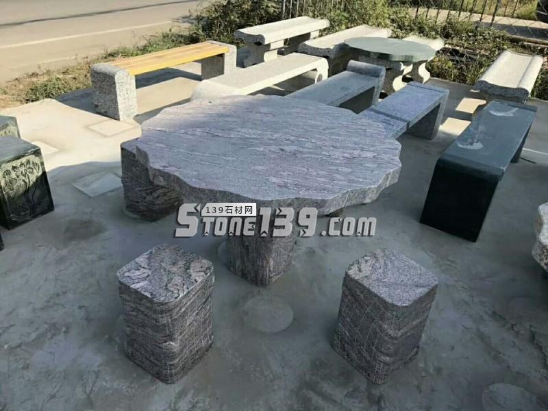 石雕桌子 石桌石凳现货促销 花岗岩长凳-- 曲阳万象石材雕刻厂