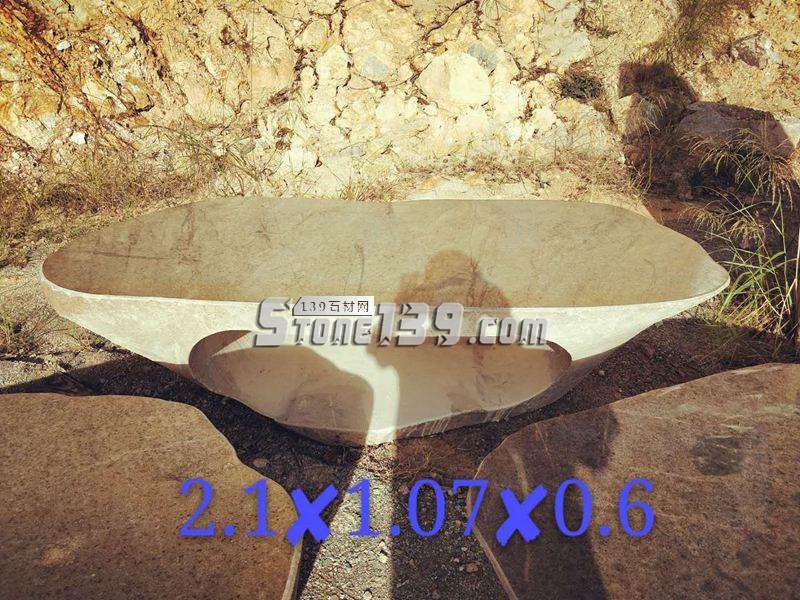 整石加工园林石桌 2.1x1.07x0.6-- 腾翔石趣石材加工厂
