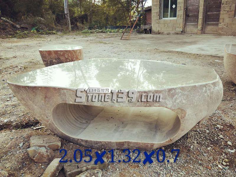 天然石材景观石桌 2.05x1.32x0.7-- 腾翔石趣石材加工厂