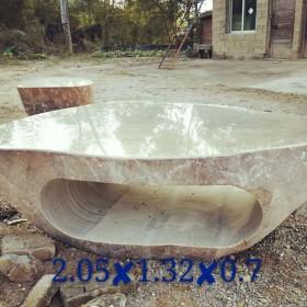 天然石材景观石桌 2.05x1.32x0.7