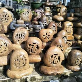 园林景观石灯 雕刻花字装饰