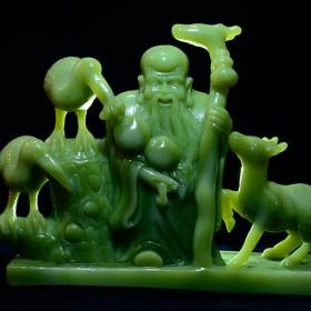 水头玉石工艺品 神话人物玉石精雕