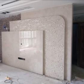九江大理石背景墙 浮雕石材装饰