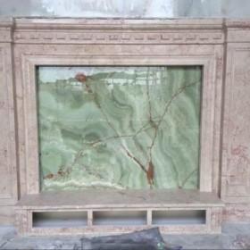 江西玉石背景墙 石材电视背景墙