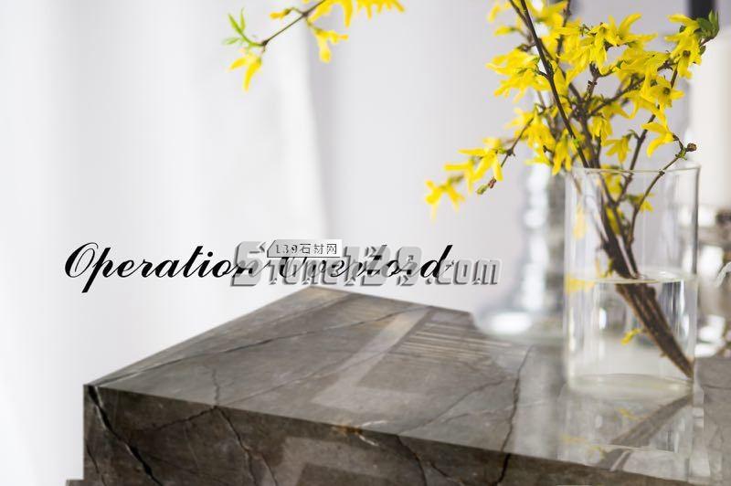 诺曼底灰大理石台面板装饰-- 万锦石业