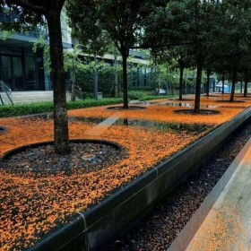绿金沙花岗岩环境石材 树池石