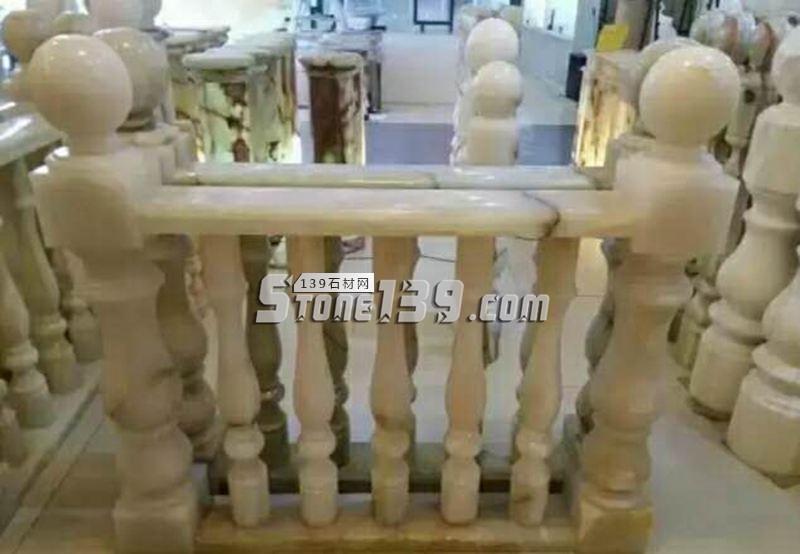 别墅装饰石材 白色玉石栏杆-- 甘肃兰州石材