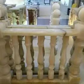 别墅装饰石材 白色玉石栏杆