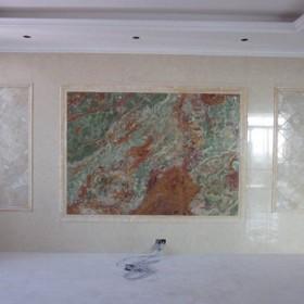 福建漳州龙文区古青玉石材背景墙