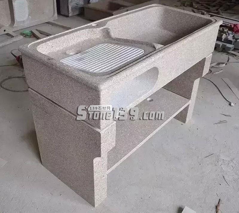 水头花岗岩洗衣池 通体加工