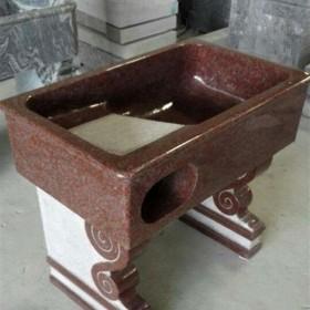 水头红色石材洗衣池供应