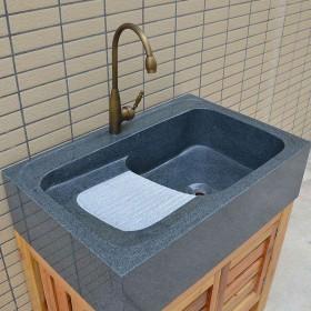 水头芝麻黑通体洗衣池成品