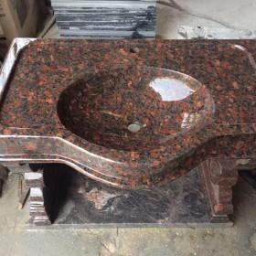 红棕花岗岩洗衣池 洗手池