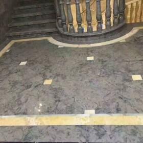 蓝色妖姬大理石地板地铺石应用
