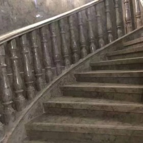 蓝色妖姬大理石楼梯踏步应用